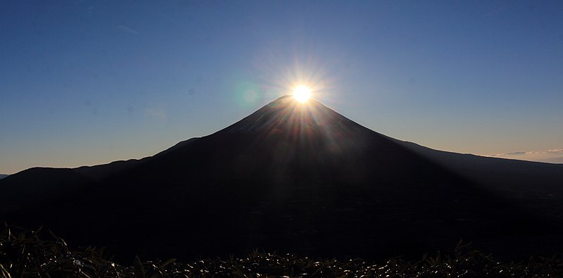 ファイル:Diamond Fuji (from Mount Ryu 2015-12-05 s3).JPG