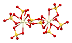 Structure of the [Ce2(SO4)8]8− ion in the crystal structure of ammonium cerium(IV) sulfate dihydrate