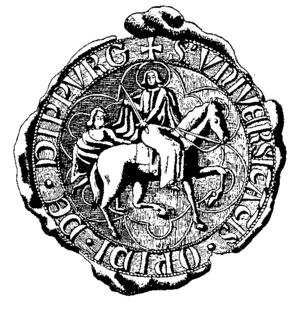 Dieburg - The oldest seal of Dieburg. Two of these seals still exist today. They were made in the years 1421 and 1538.