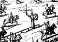 Diederich Graminaeus (1550-1610). Beschreibung derer Fürstlicher Güligscher ec. Hochzeit (Johann Wilhelm von Jülich-Kleve-Berg ∞ Jakobe von Baden-Baden, Hochzeit in Düsseldorf im Jahre 1585), Köln 1587 Nr. 90, Ausschnitt.JPG
