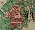 Diksmuide, Belgium, map, Ferraris, 1776.jpg