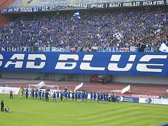 GNK Dinamo Zagreb - Bad Blue Boys tifo display