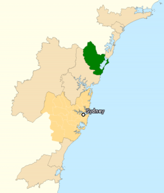 Division of Dobell - Division of Dobell in New South Wales, as of the 2016 federal election.