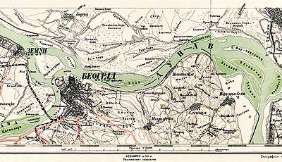 mapa kraljevine srbije Đeneralštabna karta Kraljevine Srbije — Vikipedija, slobodna  mapa kraljevine srbije