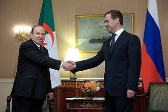 Abdelaziz Bouteflika - Abdelaziz Bouteflika meets Dmitry Medvedev in the United States, 25 September 2009