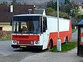 Dobřichovice, upravený bus Karosa.JPG