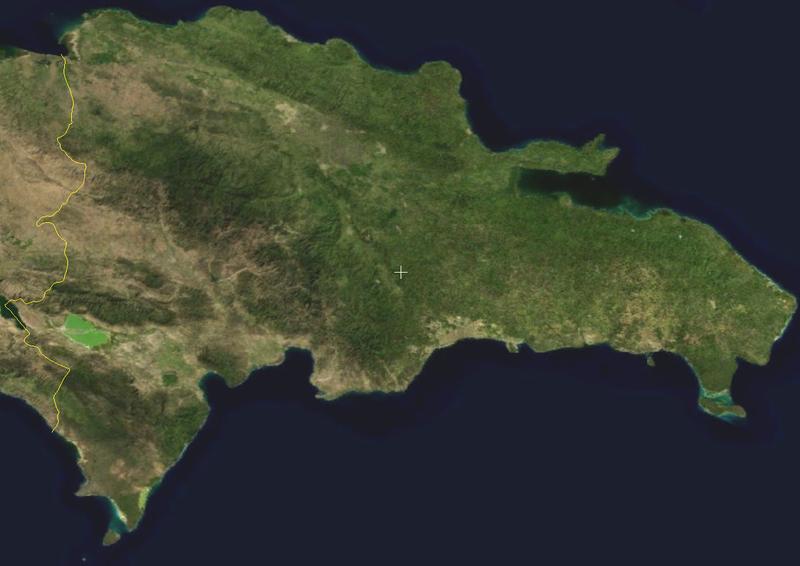 Satellitenaufnahme Dominkanische Republik