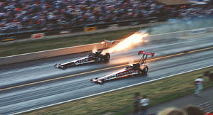 Don Prudhomme - Image: Don Prudhomme Fire 1991Kenny Bernstein