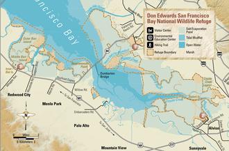 Don Edwards San Francisco Bay National Wildlife Refuge - Map of the DESFBNWR (2003)