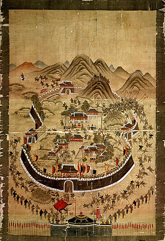 "Japanese invasions of Korea (1592–1598) - ""Dongnaebu Sunjeoldo"", a Korean painting from 1760 depicting the Battle of Dongnae"