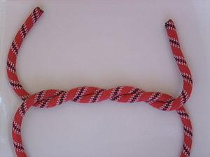 Double overhand knot - Image: Doppelter Überhandknoten