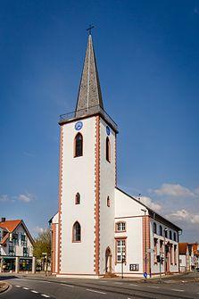 "Ev.  Church ""St. Michael"" in the town center (2016)"