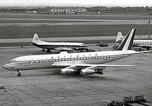Alitalia-Linee Aeree Italiane - Alitalia Douglas DC-8 at London Heathrow Airport in August 1960