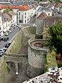 Dourdan (91), vue depuis le donjon du château sur la rue de Chartres.JPG