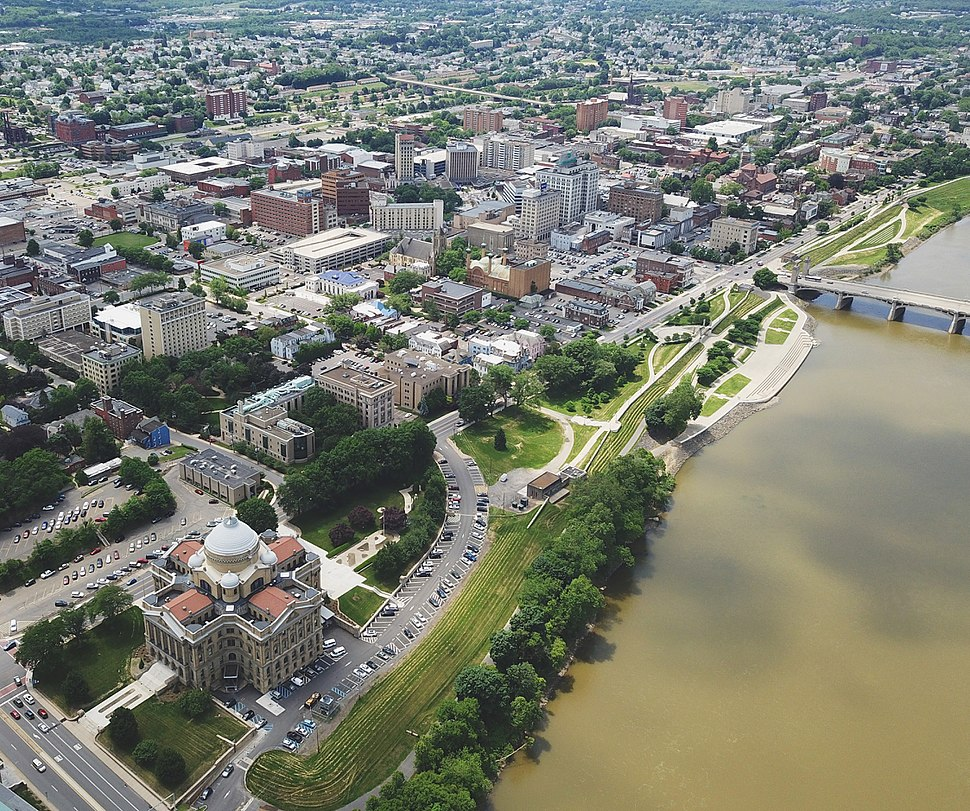 Downtown Wilkes Barre along the Susquehanna River
