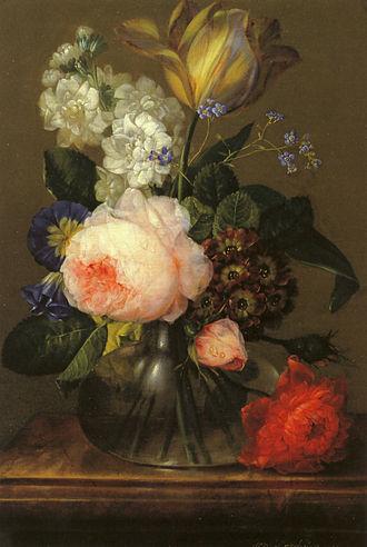 Johann Baptist Drechsler - Small flower piece, 1805, now in the Österreichische Galerie Belvedere