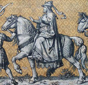 Fürstenzug - Conrad, Margrave of Meissen, the first ruler in the procession