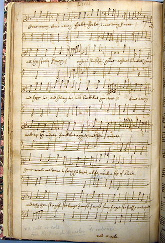 "The Witch (play) - ""Come away, come away"", text by Middleton, music attributed to Robert Johnson as it appears in Drexel 4175"