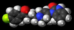 Space-filling model of droperidol