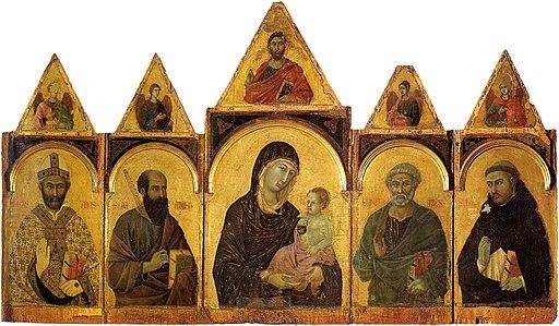 Duccio di Buoninsegna, Polittico n. 28, 1300-1305, tempera e oro su tavola, dalla Chiesa di san Domenico di Siena, Siena, Pinacoteca Nazionale