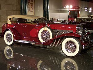 Personal luxury car - 1935 Duesenberg supercharged SJ LaGrande Dual-Cowl Phaeton