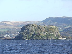 Amlaíb Conung - Dumbarton Rock (Alt Clut), captured by Amlaíb and Ímar after a four-month siege in 870