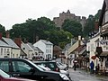 Dunster high street and castle from the Yarn Market - geograph.org.uk - 1702481.jpg