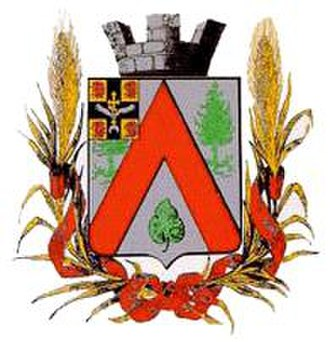 Dusheti - The Dusheti coat of arms, devised adopted in 1875 and used under the Imperial Russian rule.