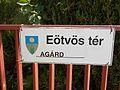 Eötvös Square, sign, Agárd, 2017 Gárdony.jpg