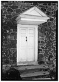 EAST DOOR - Bradford Friends Meeting House, Northbrook Road, West Bradford Township, Marshallton, Chester County, PA HABS PA,15-MARSH,3-3.tif