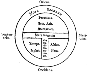 .mw-parser-output .nowrap,.mw-parser-output .nowrap a:before,.mw-parser-output .nowrap .selflink:before{white-space:nowrap}Fig. 9.—T map from Isidor of Seville's Origines.