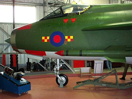 Preserved Lightning XN776 at East Fortune - English Electric Lightning
