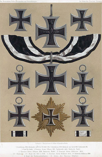 Iron Cross - Various iterations from 1813 to 1870