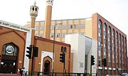 East London Mosque, one of the country's largest Islamic places of worship.