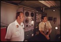 ENGINEERS INSIDE THE TEST CAB OF THE SOLAR FURNACE FACILITY OPERATED FOR THE U.S. ARMY AT WHITE SANDS MISSILE RANGE... - NARA - 555334.tif