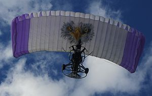 Powered parachute - Two-person powered parachute trike