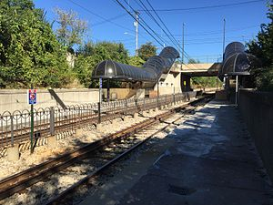 East 116th (RTA Rapid Transit station) - Image: East 116th Rapid Station September 2015