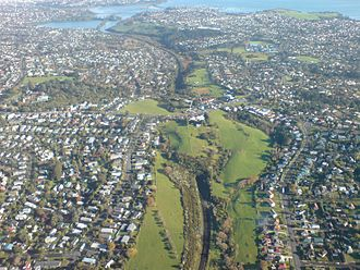 St Johns, New Zealand - St Johns, in the foreground and left.