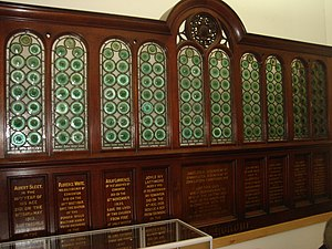 Edmonton Green Shopping Centre -  Memorial board at library
