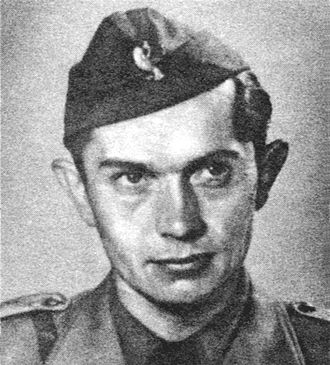 Edmund Osmańczyk - A photo of Edmund Jan Osmańczyk from 1945.