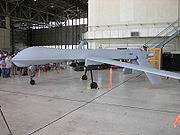 MQ-1 Predator, with inert Hellfire missiles, on display at the 2006 Edwards Open House