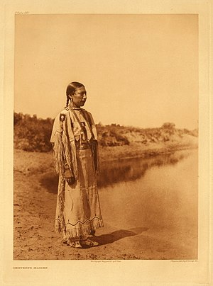Cheyenne - Cheyenne woman photograph by Edward S. Curtis, 1930