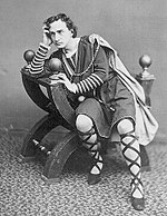 American actor Edwin Booth as Prince Hamlet, circa 1870