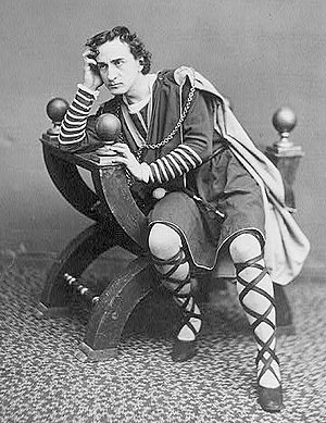 Hamlet - The American actor Edwin Booth as Hamlet, ca. 1870
