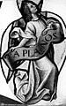 Eglise Saint-Martin - Vitrail, baie 6 (détail), Ange tenant un phylactère - Montmorency - Médiathèque de l'architecture et du patrimoine - APMH00015593.jpg
