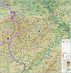 Carte de l'Eifel.
