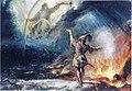 Ekman, Lemminkäinen tulisella järvellä (sketch).jpg