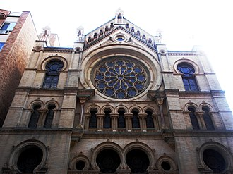 Eldridge Street Synagogue - Renovated Eldridge Street Synagogue front facade, 2012
