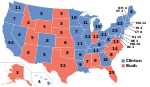 Electoral map, 1992 election