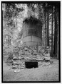 Elevation view of kiln -3 from south-west with scale. - Four Lime Kilns, 63025 Highway 1, Big Sur, Monterey County, CA HABS CA-2734-15.tif